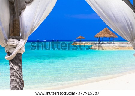 Relaxing holidays in tropical paradise - stock photo