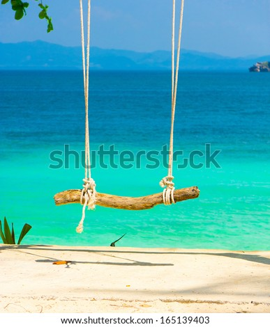 Relaxing in Paradise  - stock photo