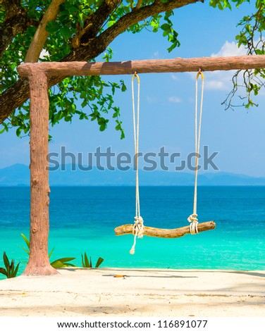 Relaxing in Pardise Serene Contemplation - stock photo