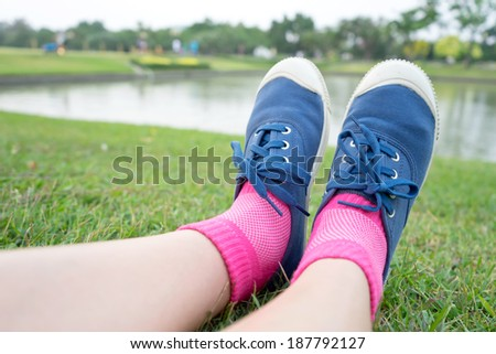 Relaxing in the nature - stock photo