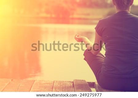 Relaxing woman - stock photo