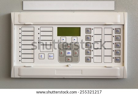 Relay protection device mounted on control panel - stock photo