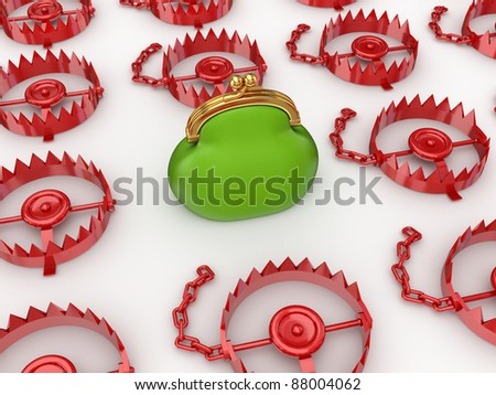 Reliable investments concept.Isolated on white background.3d rendered. - stock photo