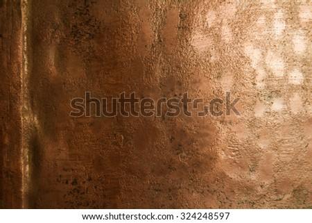 relief plates Orange copper - stock photo