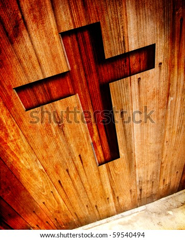 Religion Conceptual Grunge Background - stock photo