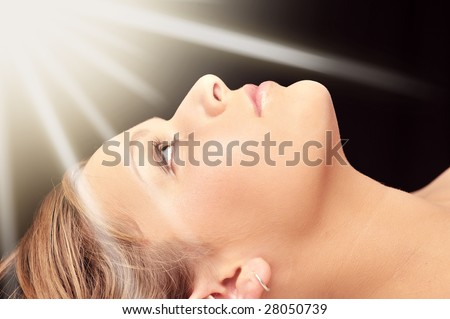 Religion woman - stock photo