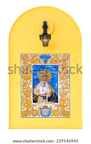 Religious ceramic tile  - stock photo