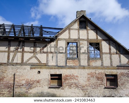 Remains of an old house  - stock photo
