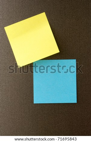 Reminder notes on the dark background - stock photo