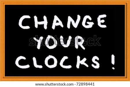 reminder to change the clock - stock photo