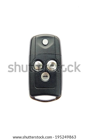 Remote car key, isolated on a white background. - stock photo
