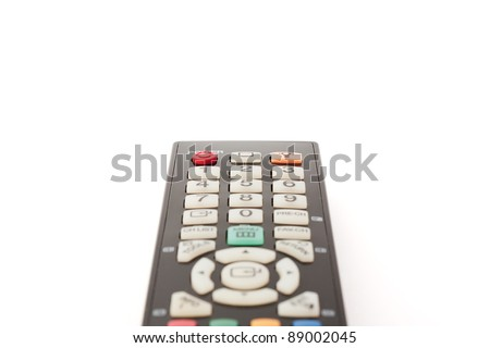 Remote control close-up - stock photo