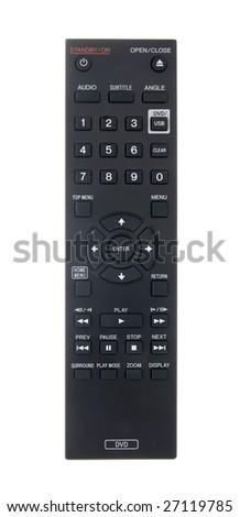 Remote control dvd - stock photo