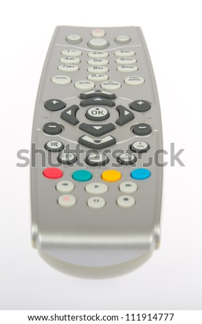 Remote control from TV, VCR, DVD, close up - stock photo