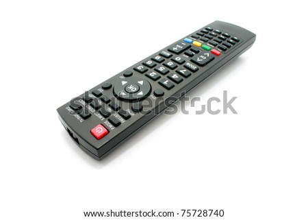 Remote control isolated on white - stock photo