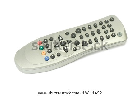 Remote Control, isolated on white background - stock photo