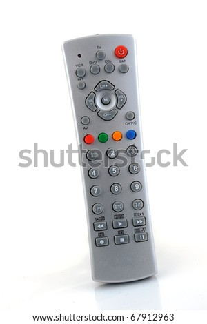 Remote control over a white background - stock photo