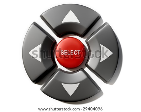 Remote control selection buttons - stock photo