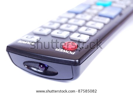 Remote control unit for a television set - stock photo