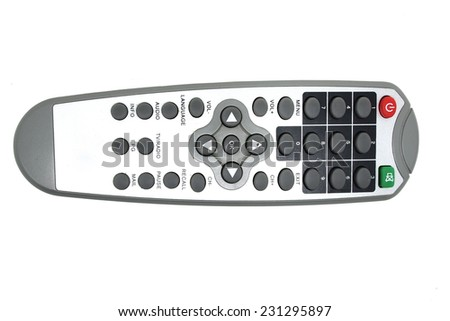remote controller on white background - stock photo