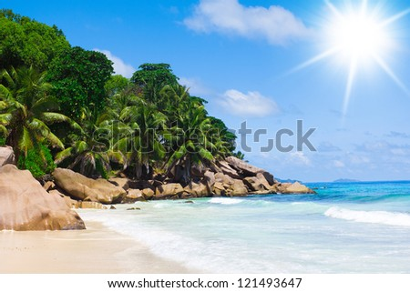 Remote Resort Sunshine Coast - stock photo
