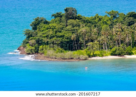 Remote tropical islands in the ocean - stock photo