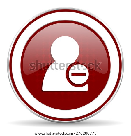 remove contact red glossy web icon