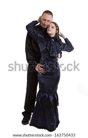 Renaissance Romance Couple - stock photo