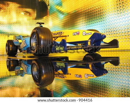 Renault F1 Formula one Fernando Alonso Racing car showroom - stock photo