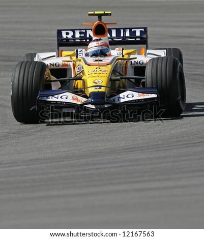 Renault's Brazilian F1 driver Nelson Piquet - stock photo