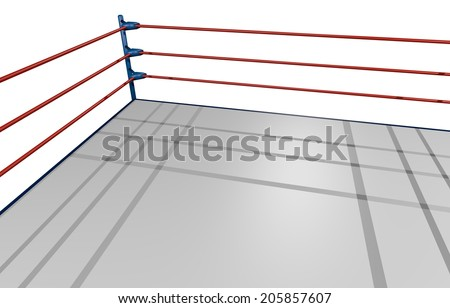 Render arena boxing - stock photo