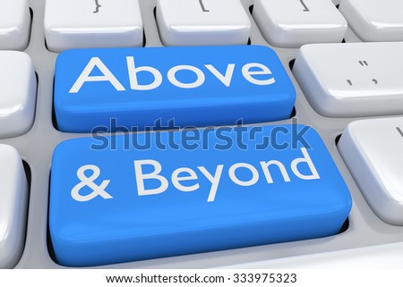 Render illustration of computer keyboard with