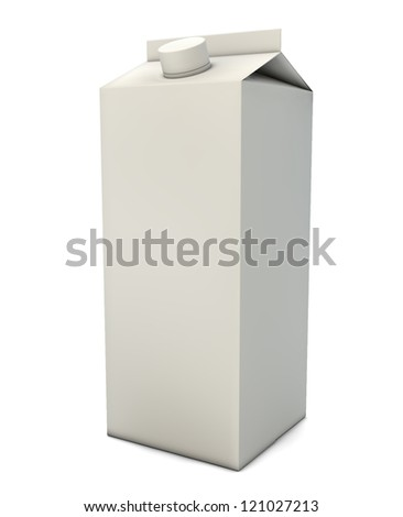 render of a milk packaging - stock photo