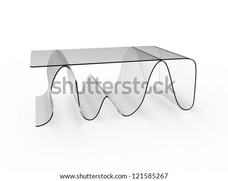 Render of a unique coffee table design - stock photo