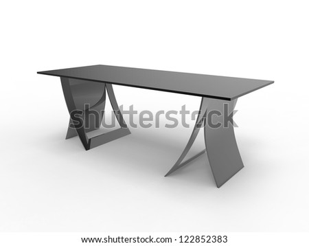 Render of a unique desk design - stock photo