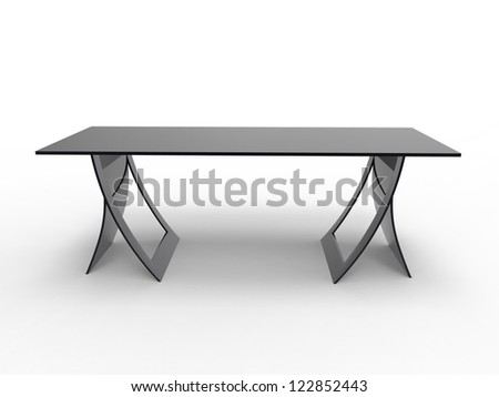 Render of a unique desk design - stock photo