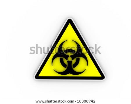 Render of Biohazard Symbol - stock photo