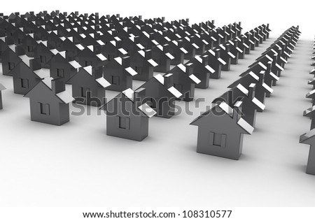 render of house - stock photo