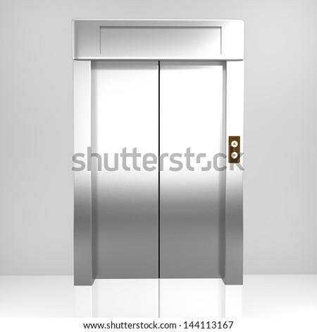 Rendered elevator - stock photo