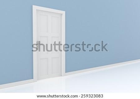rendering of a door - stock photo