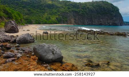Rendezvous Bay in Montserrat, West Indies, Caribbean - stock photo