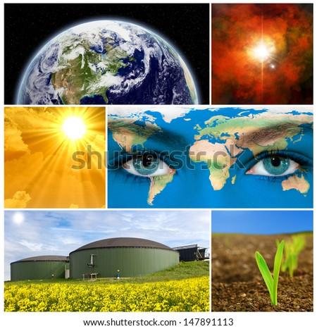 Renewable energy - earth texture by NASA.gov - stock photo