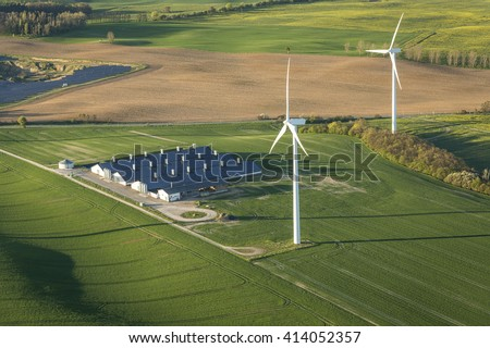 renewable energy in agriculture - stock photo