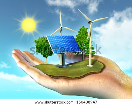 Renewable energy sources - stock photo