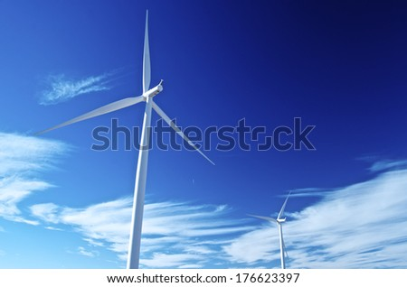 Renewing Energy through Wind - stock photo