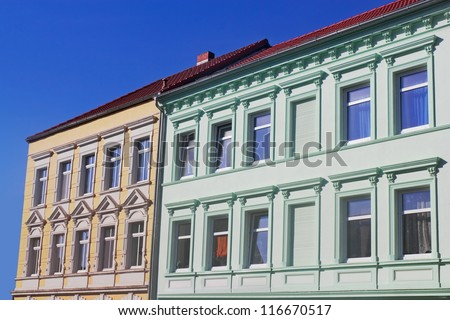 renovated buildings - stock photo
