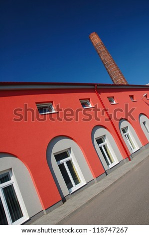 Renovated commercial building - stock photo