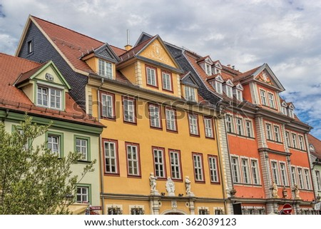 renovated houses - stock photo
