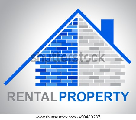 Rental Property Showing Real Estate And Household - stock photo