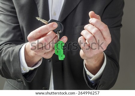 renting or buying your corporate car - stock photo